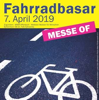 Fahrradbasar am 7. April 2019 in Offenbach am Main